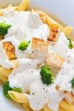 Feg broccoli Penne Royaltyfri Foto