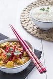 Feg curry, med lökar och chili Royaltyfri Fotografi