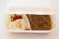 Feg filé med rice Royaltyfria Bilder