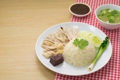 feg hainanese rice Royaltyfri Foto