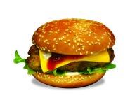 Feg hamburgare/smörgås Fotografering för Bildbyråer