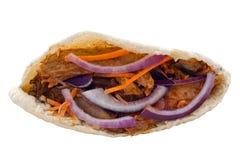 Feg kebab i en Pita Bread Arkivfoto