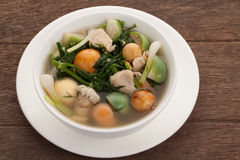 feg kinesisk matrestaurangsoup Fotografering för Bildbyråer