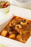 Feg massaman curry Arkivfoton