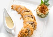 Feg meat med saucen-boat Royaltyfri Foto
