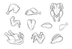feg ny meat royaltyfri illustrationer