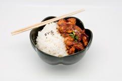feg riceteriyaki royaltyfri foto