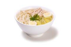 Feg soppa med nudlar Arkivfoto