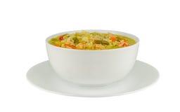 Feg soppa med ris Arkivfoton