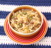 Feg soppa med risnudlar Arkivfoto