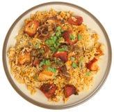Feg Tikka Biriyani för indier curry arkivfoton