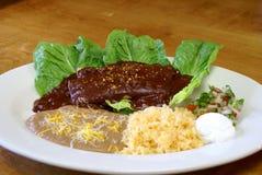 Fega Enchiladas med vågbrytaresås 2 royaltyfria foton