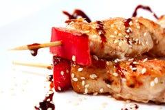 fega japanska kebabs Arkivfoton
