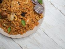 Fega Kabsa är det en traditionell arabisk mat royaltyfria bilder