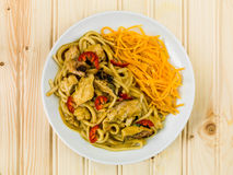 Fega Katsu Curry Noodles With Chilli Arkivbild