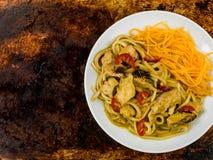 Fega Katsu Curry Noodles With Chilli Arkivbilder
