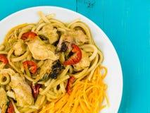 Fega Katsu Curry Noodles With Chilli Royaltyfri Fotografi