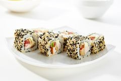 Fega Maki Sushi Royaltyfria Bilder