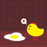 Fega och stekte ägg. Royaltyfria Foton