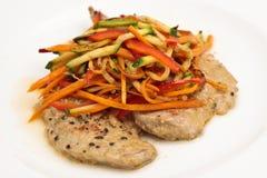 fega steakgrönsaker Arkivfoton