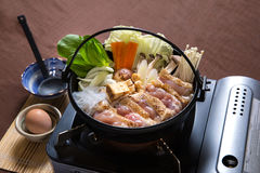 Fega Sukiyaki royaltyfria foton