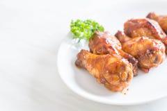 Fega vingar för grillfest Arkivfoto