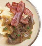 Fegato, bacon & poltiglia immagine stock