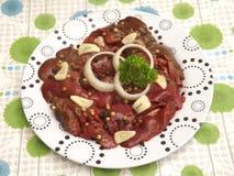 Fegato di carne di maiale fotografia stock