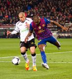 Feghouli and Eric Abidal Royalty Free Stock Photos
