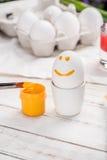 Fegt ägg och målarfärg Royaltyfria Foton
