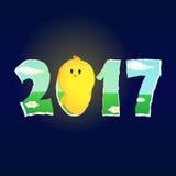 Fegt se för nytt år till och med 2017 Royaltyfri Bild