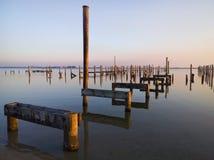 Fehlende Piers Stockbild