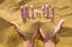 Fehlender Sand Stockbild