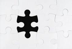 Fehlendes Element eines Puzzlespiels Stockfoto