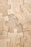 Fehlendes Puzzlespielelement Stockbild