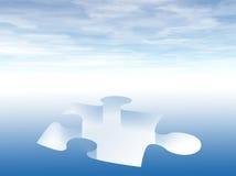 Fehlendes Puzzlespielstück Stockfoto