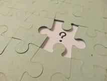 Fehlendes Stück eines Puzzlespiels Lizenzfreies Stockbild