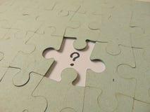 Fehlendes Stück eines Puzzlespiels Lizenzfreie Stockbilder