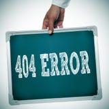 Fehler 404 stockbild