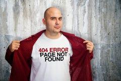Fehler 404 Stockfotos