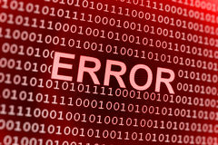 Fehler des binären Codes Lizenzfreie Stockbilder