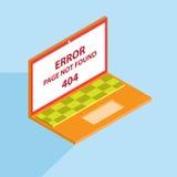 Fehler 404 isometrisch Lizenzfreie Stockfotografie