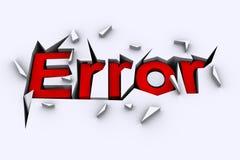 Fehler-Konzept Stockbild