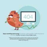 404 Fehler-Monster-Seiten-Design Stockbilder
