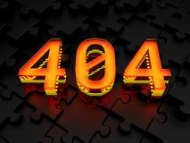Fehler404-seitiges nicht gefunden Lizenzfreies Stockbild