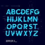 Fehler-Störschub-Buchstaben lizenzfreie abbildung