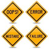 Fehler und Fehler stock abbildung