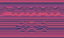 Fehler 404 Vektorgestreifter Hintergrund Abstrakte Farbenwellen Schallwelleoszillation Flippige gekräuselte Linien Stockfotos