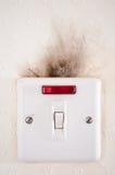 Fehlerhafte elektrische Leitungen. Stockfotografie