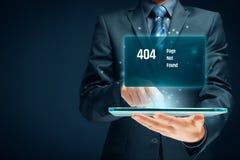 Fehlerseite HTTP 404 lizenzfreies stockfoto